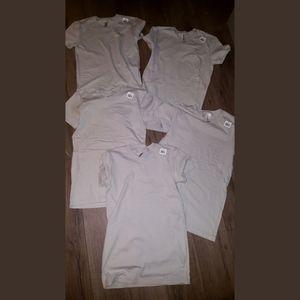 5 NEW tshirts women S to XS, light gray